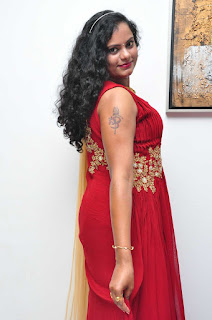 Asha Chowdary Pictures in Red Dress at Red Alert Audio Release Function ~ Bollywood and South Indian Cinema Actress Exclusive Picture Galleries