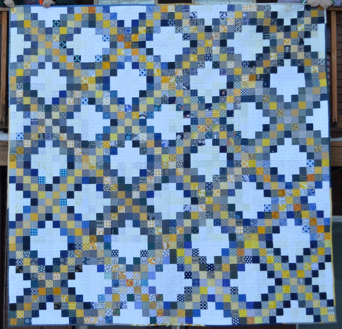 Irish Quilting Patterns : Free Irish Chain Quilt Block Pattern + Giveaway - Seams And Scissors