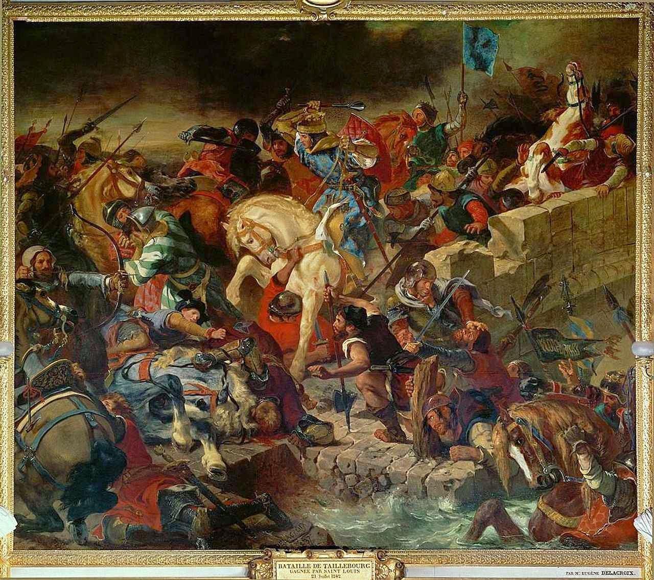 São Luís na vitória de Taillebourg. Eugène Delacroix, museu de Versailles.