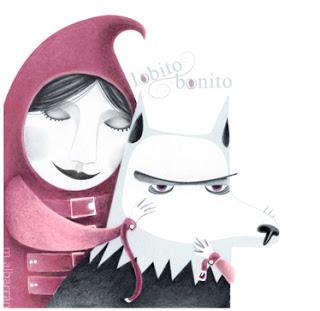 Crazy Red Riding Hood Maria Albarran Illustration