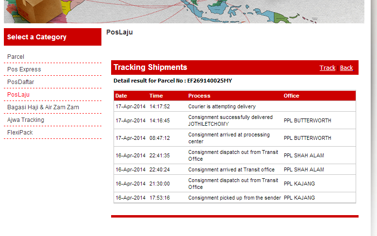 Haku Punyer Suke Cara Check Tracking Number Sendiri