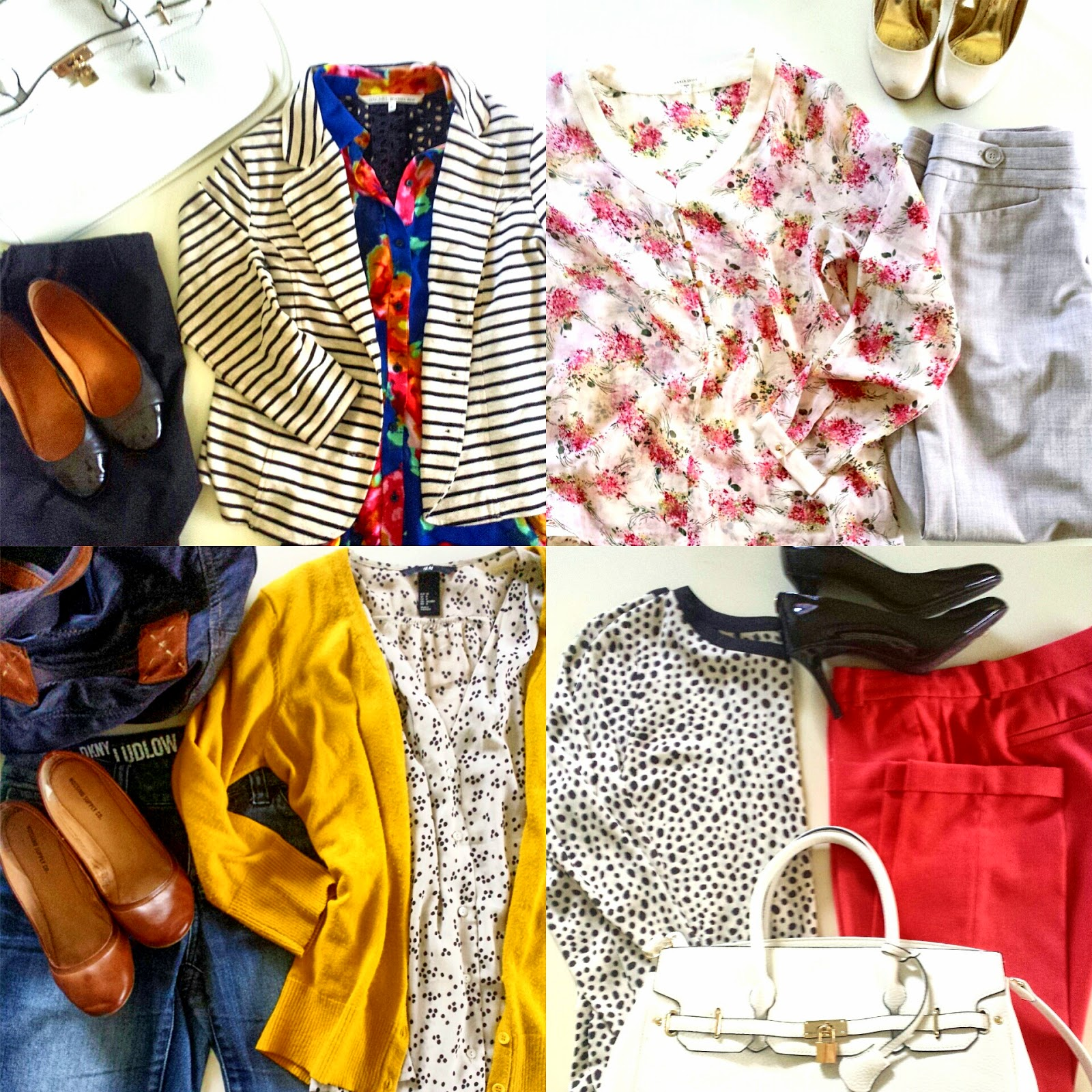 colorful spring work outfits