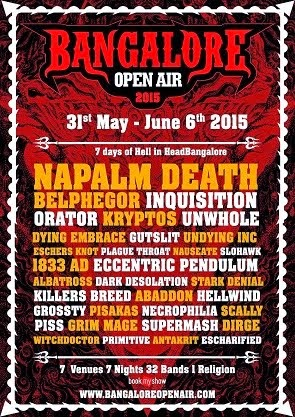 Buy BANGALORE OPEN AIR (2015) Tickets