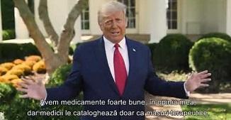 Donald Trump 🔴 Faptul că m-am infectat îl consider o binecuvântare de la Dumnezeu