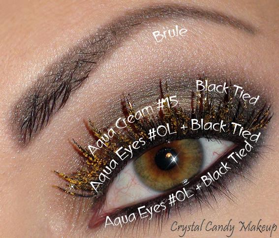 Face of the day : Holodiam - Make-Up For Ever (Poudre #303 et faux-cils Holodiam, Aqua Cream #15, Aqua Eyes #0L, Fards Black Tied et Brule MAC)