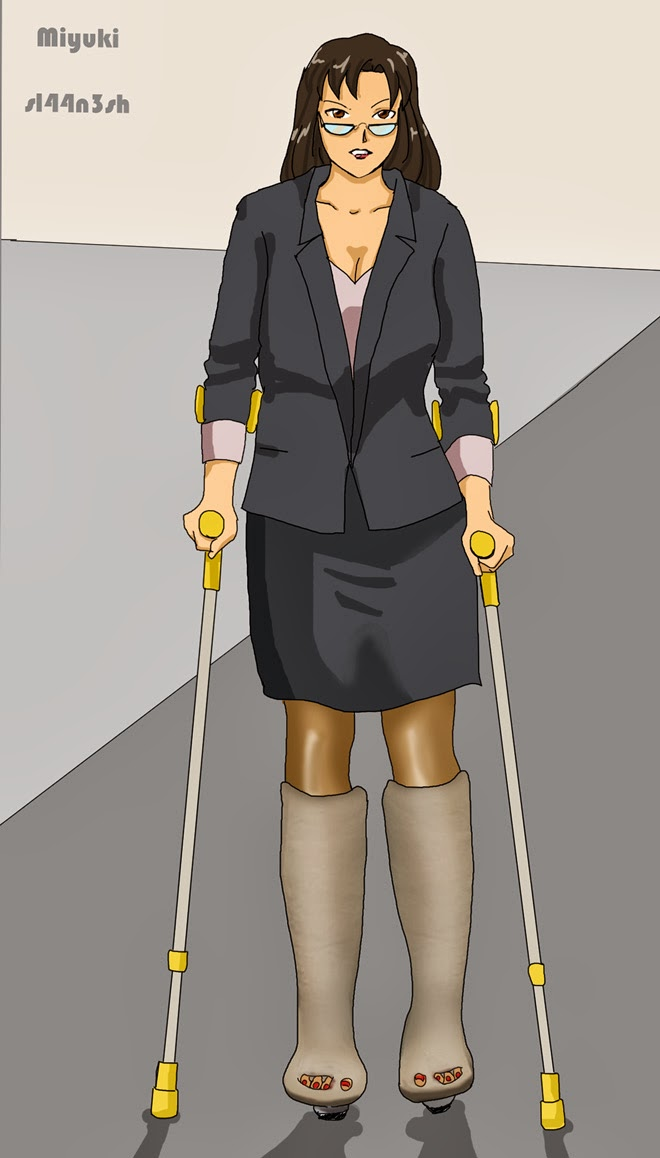 castgirls good news new crutches by sl44n3shcfa