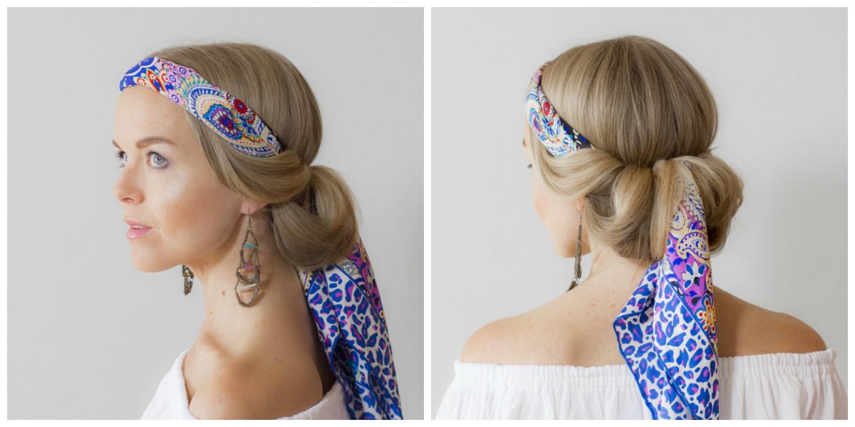 Как забирать волосы на голове