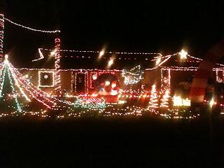 House WIth Christmas Lights LIt Up