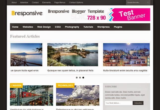 Bresponsive Responsive Blogger Template