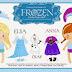 Ana y Elsa de Frozen Bebés: Muñecas Recortables para Imprimir Gratis.