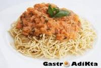 Spaghettii con salsa o'scarpariello