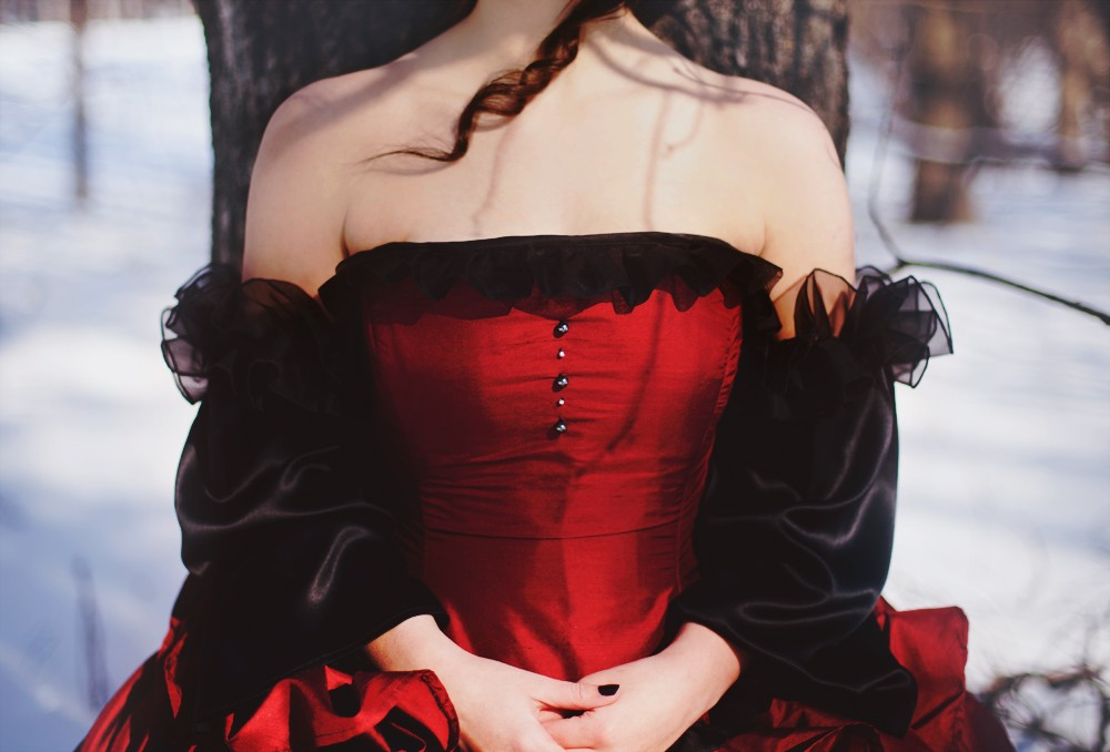 Wedding dress black and red wedding dresses design for Red and black wedding dresses