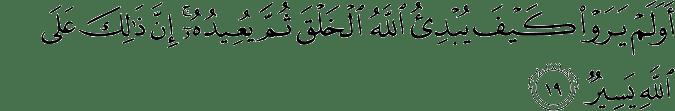 Surat Al 'Ankabut Ayat 19