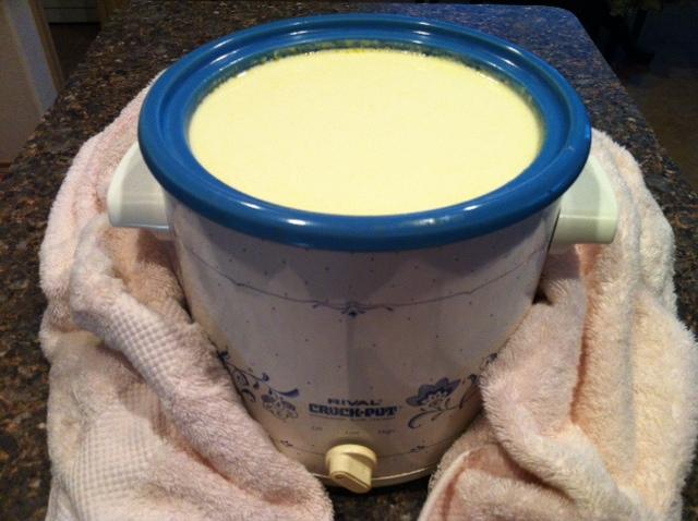 how to make greek yogurt in a crockpot