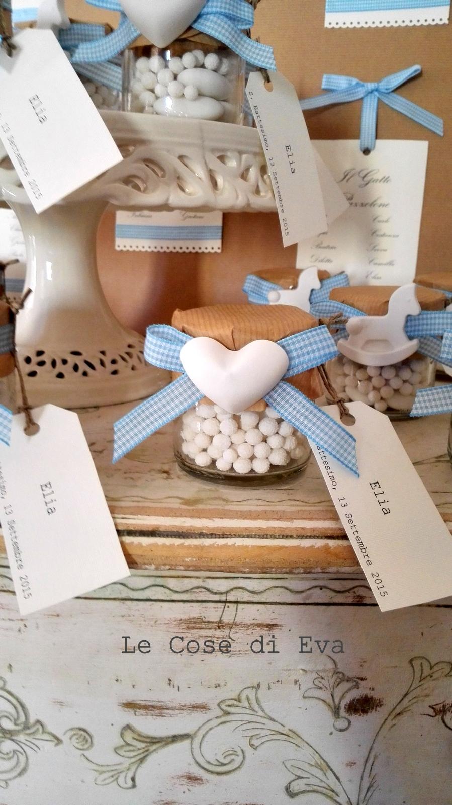 Molto Le Cose di Eva: Le bomboniere e il tableau per un battesimo coccoloso GO39