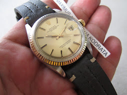ROLEX OYSTER PERPETUAL DATEJUST - ROLEX 1601 GOLD DIAL
