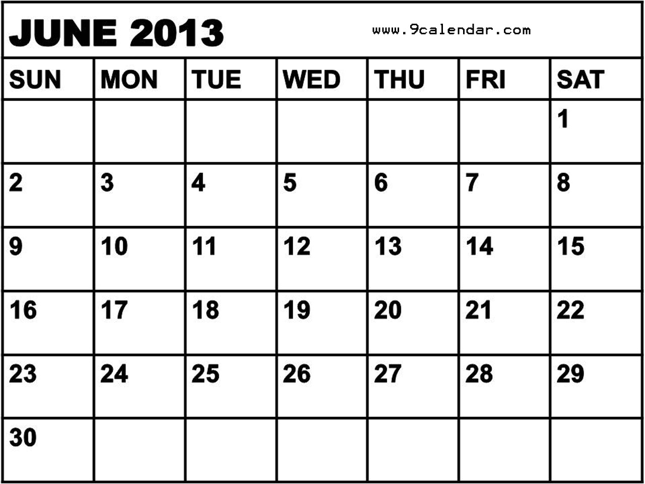 2013 Calendar By Month July The insane month of june!