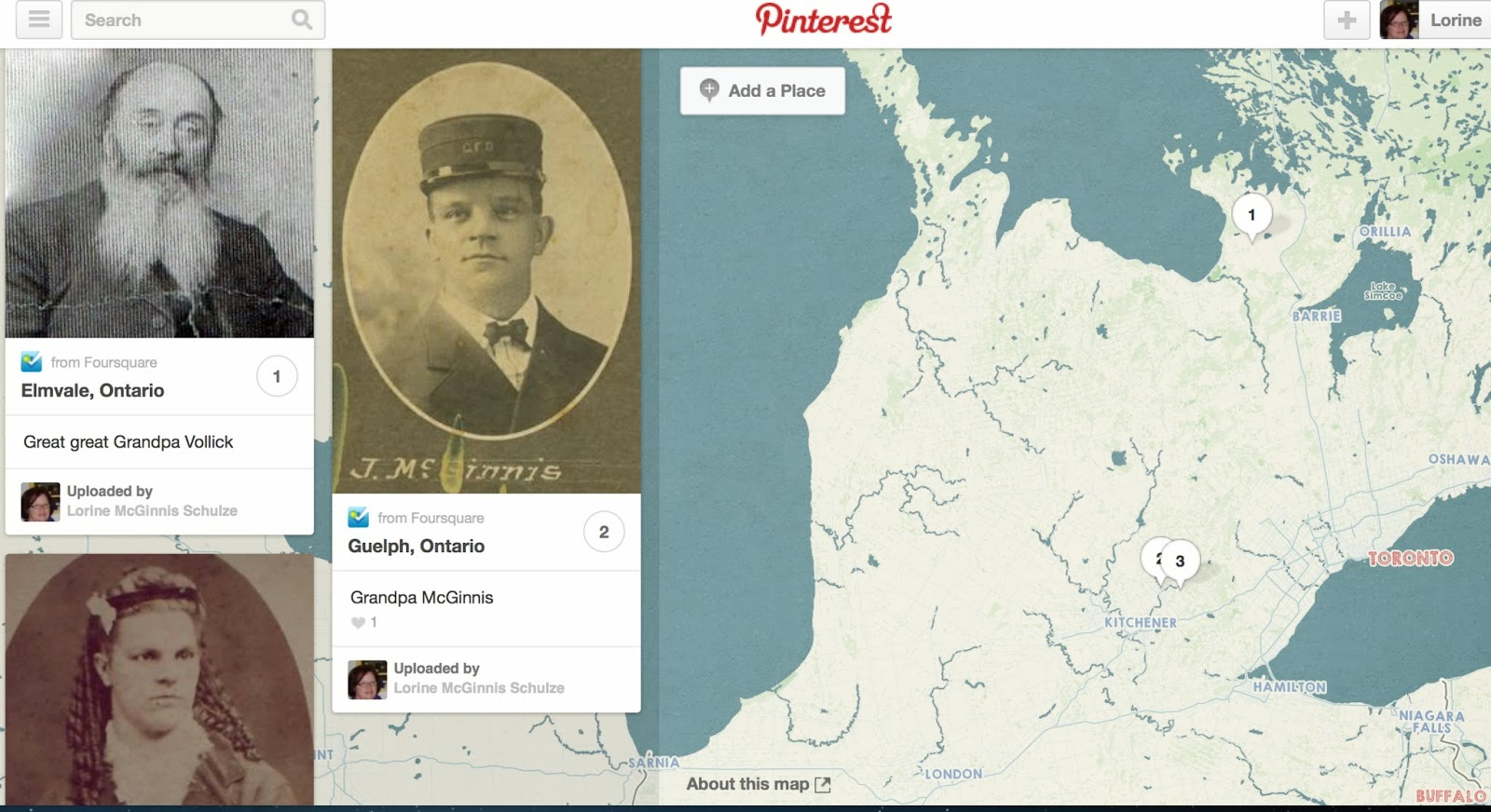 Olive Tree Genealogy Blog: New Map Feature on Pinterest is Pretty Cool