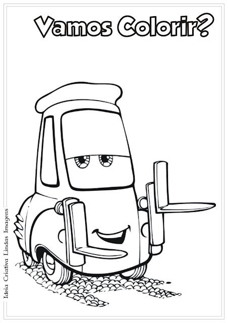 Desenho Carros da Disney Guido para colorir