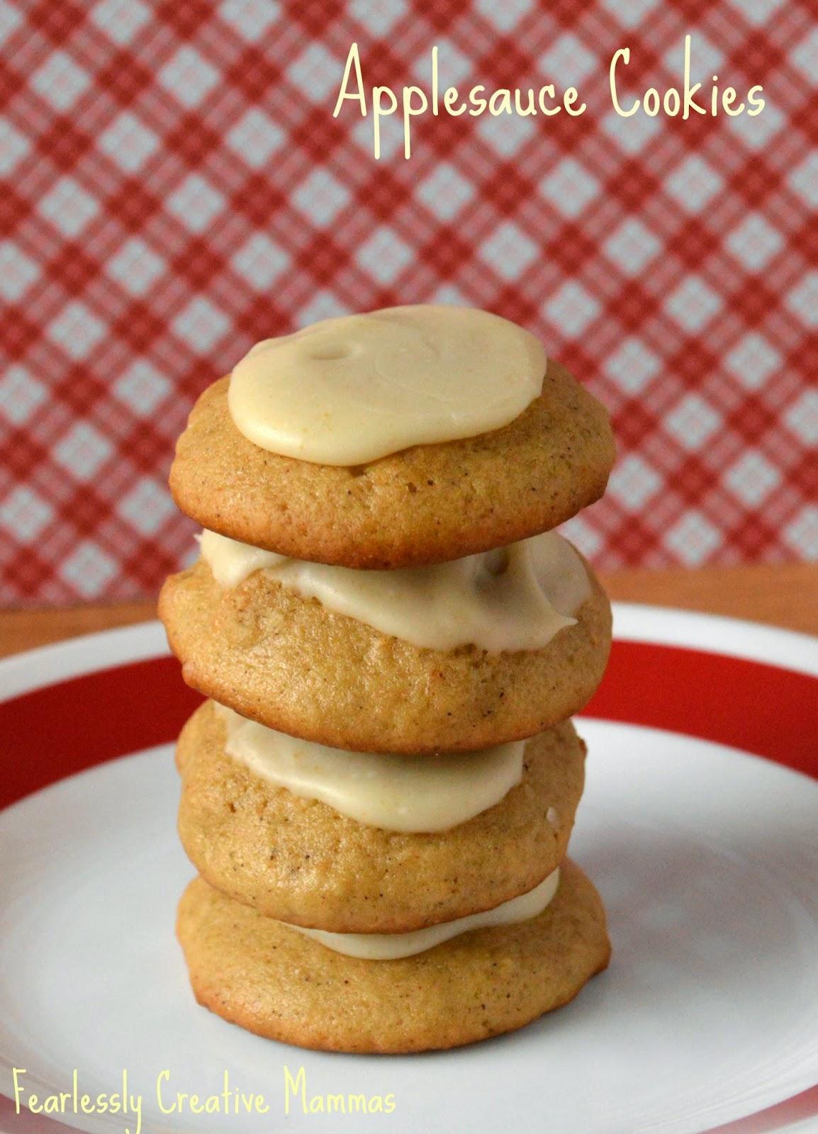 Applesauce Cookies #fbcookieswap
