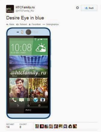 HTC Desire Aye menampakan wujudnya dengan kamera Selfie 13 MP