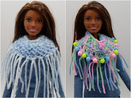 DIY Barbie Blog: knit/crochet fringed cowl