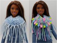 DIY Barbie Blog: knit/crochet fringed cowl