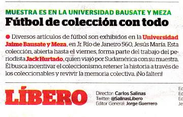 Menciones Diario Líbero (Perú)