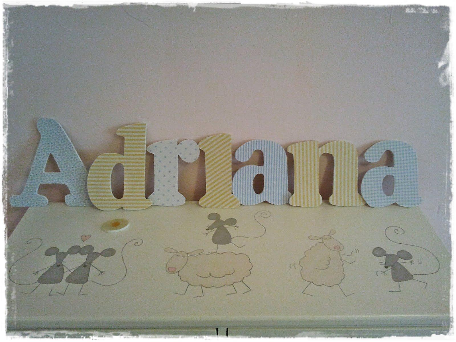 Qu de cucadas letras de pared para adriana - Letras adhesivas para pared ...