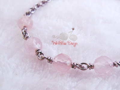 Wire Wrapped Minlet at WireBliss - Rose Quartz