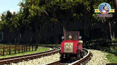 Sodor red car Winston Thomas the tank railway line train tracks and junctions inspection vehicle