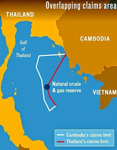 Maritime Grenze Thailand Kambodscha