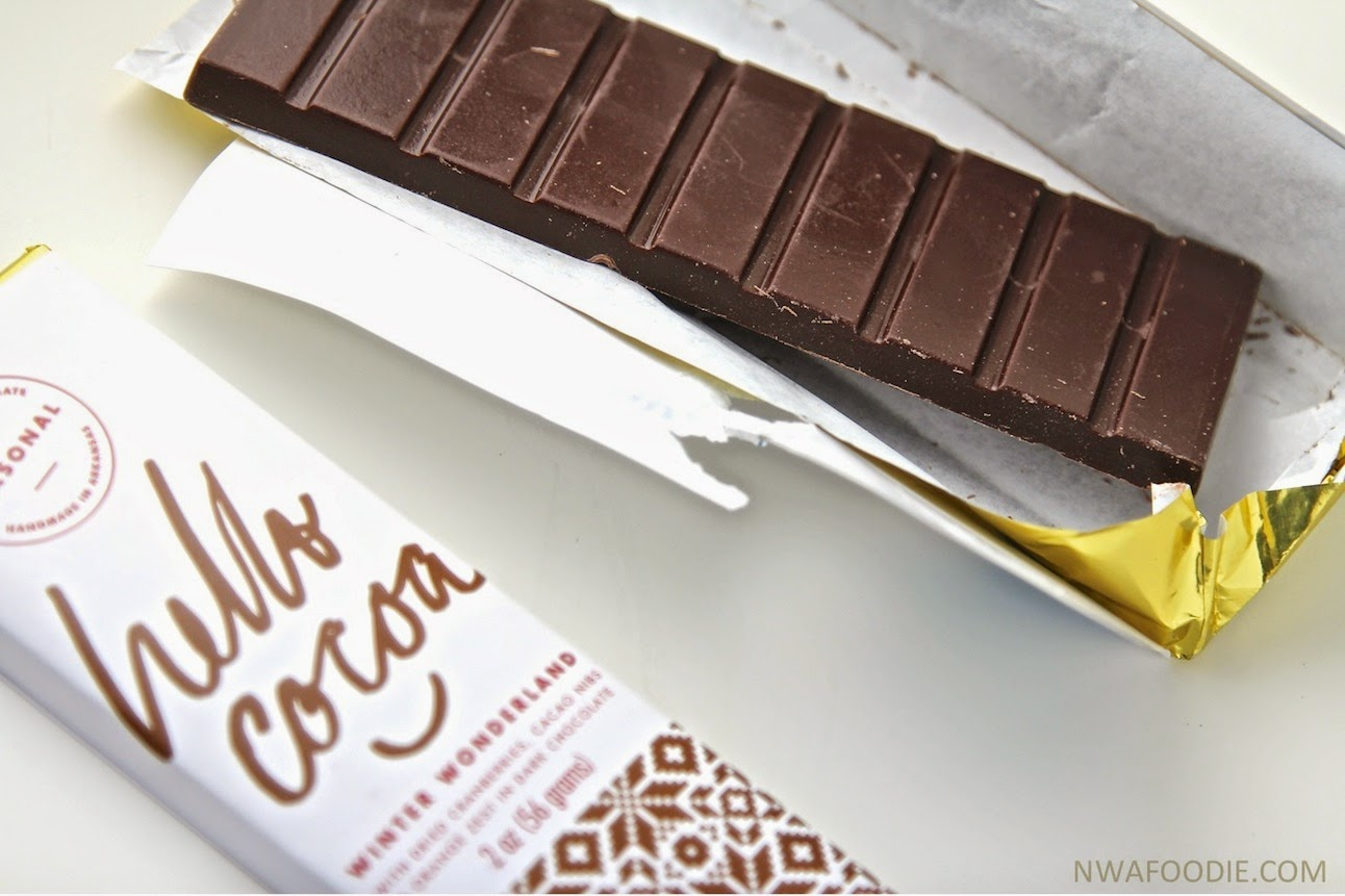 Hello Cocoa #local Northwest Arkansas chocolate bars Winter Wonderland limited edition (c)nwafoodie