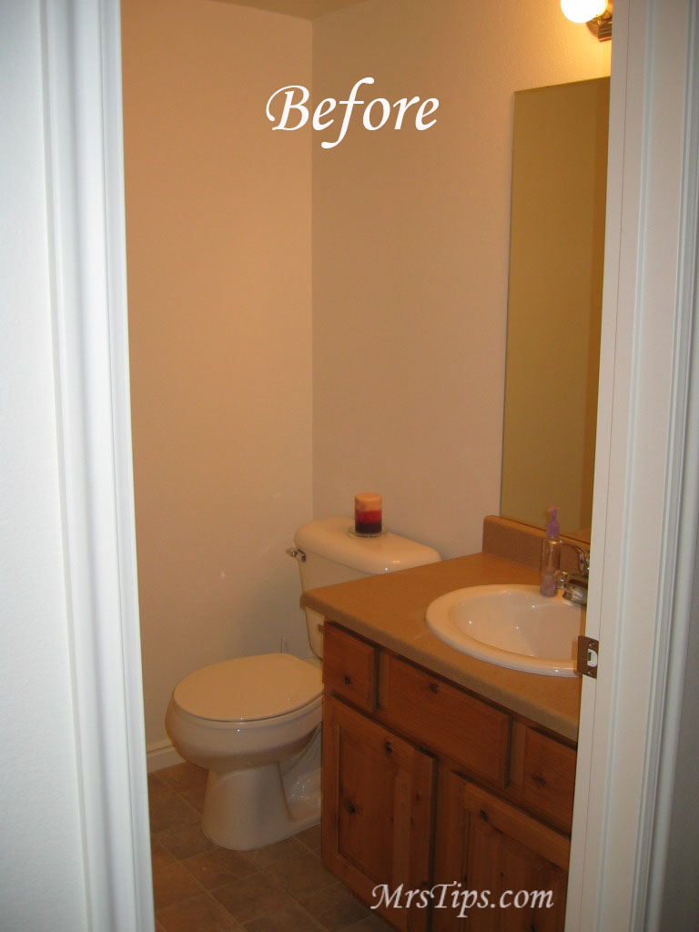 mrs tips powder room makeover