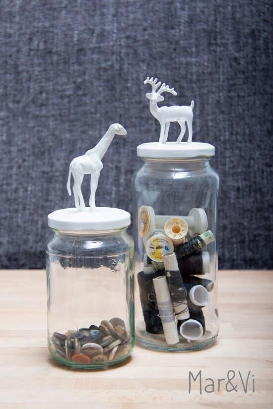riciclo creativo con barattoli di vetro