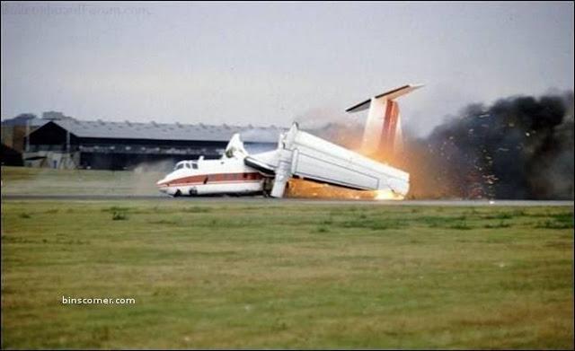 airplane got fire