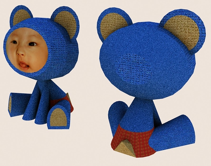 Customizable Teddy Papercraft