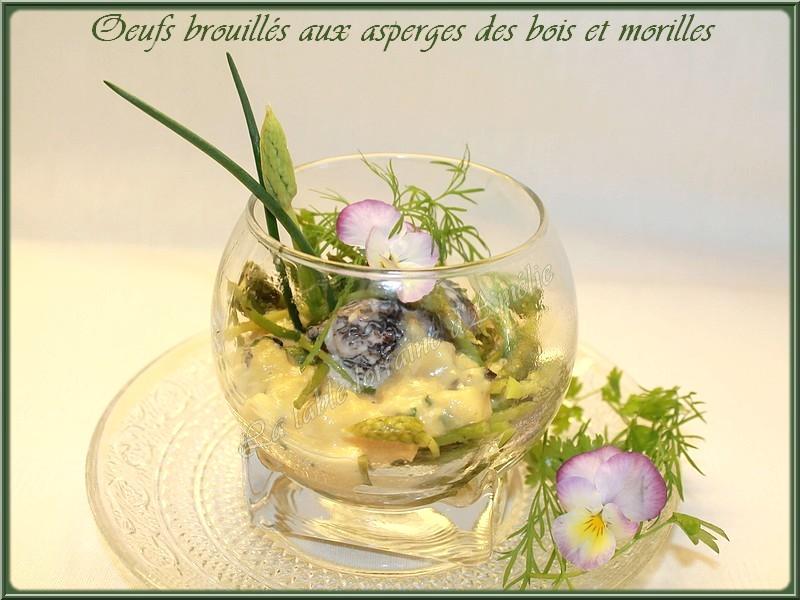 Asperge Des Bois Saison Lorraine - LA TABLE LORRAINE D'AMELIE u0152UFS BROUILLES AUX ASPERGES DES BOIS (Ornithogale des Pyrénées)ET