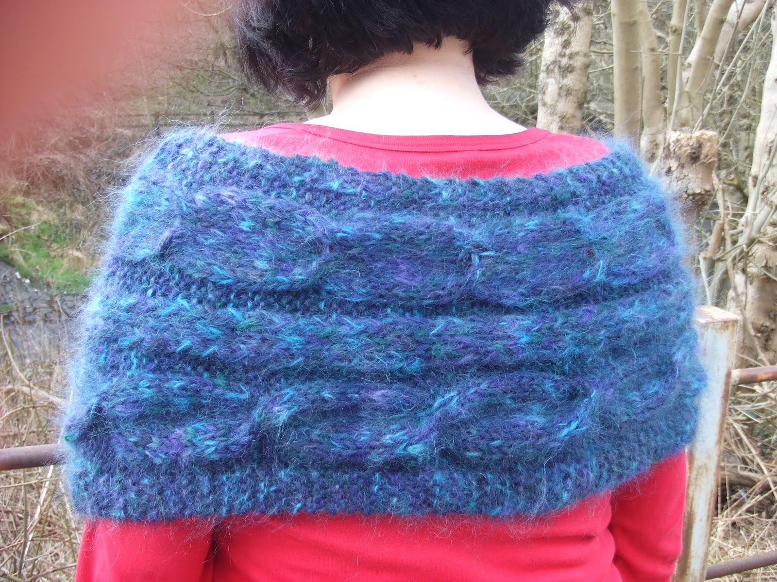 Crafting With Mel: Knitted Mohair Shrug