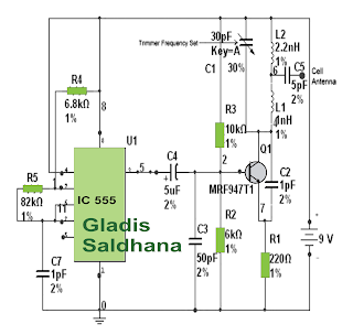 various diagram make this cell phone jammer circuit at home