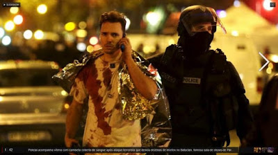 Imagem - Atentatos terroristas em Paris matam pelos menos 150 pessoas e faz mais de uma centena de feridos