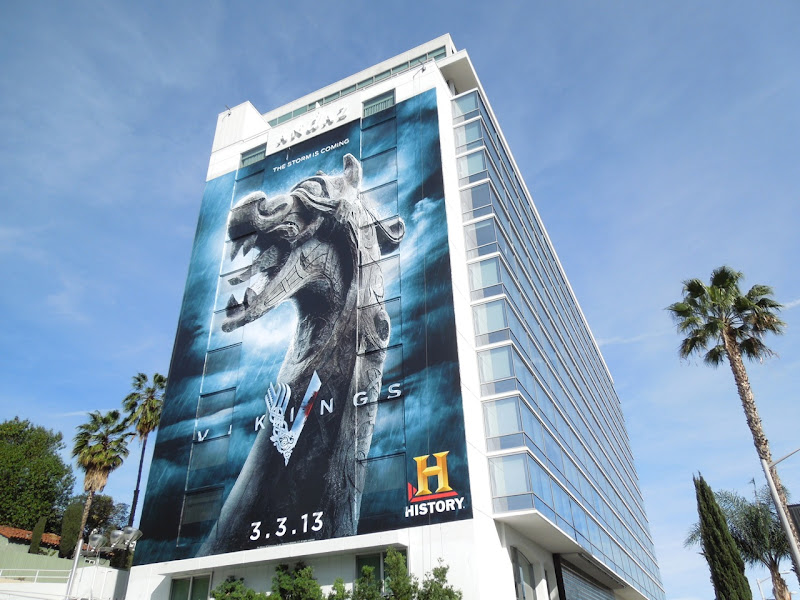 Giant Vikings billboard Andaz Hotel
