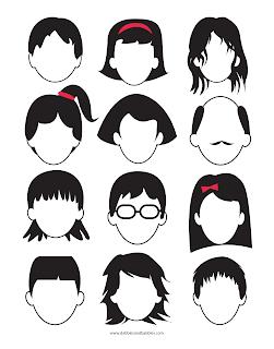 rostos para imprimir faces limpas educação infantil crianças desenhar