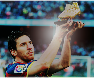 lionel messi with the gold boot