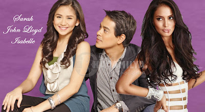 Sarah Geronimo, John Lloyd Cruz and Isabelle Daza in a Triangle movie