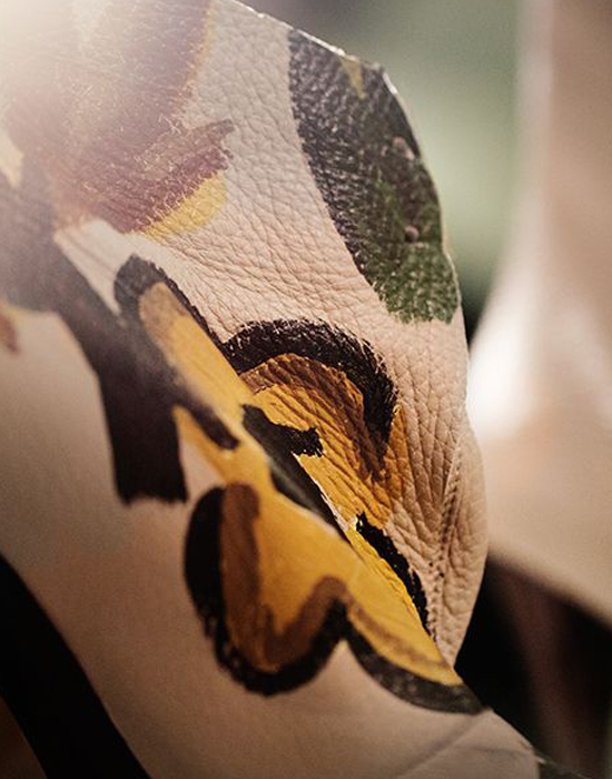 Flower hand-painted details Burberry Prorsum Autumn Winter 2014 collection