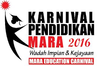 Jadual tarikh dan lokasi Karnival Pendidikan MARA 2016