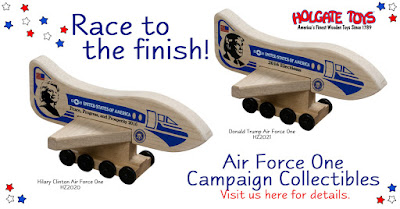 Clinton & Trump Air Force One Holgate Toy Collectible
