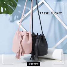 SALE Tassel Bucket Bag