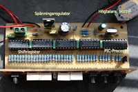 Elektronisk klocka med en pic-processor som grund för tidsräkning.